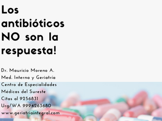 Antibiotics are not the answer