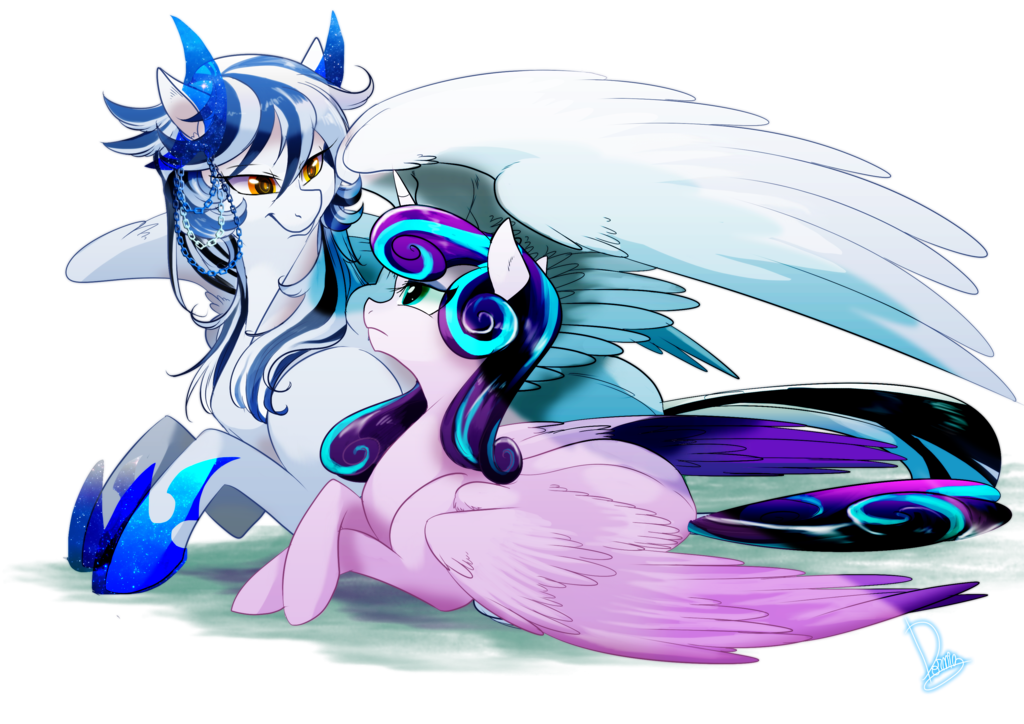 soul_silver_and_flurry_heart_by_dormin_kanna-d9y2yob