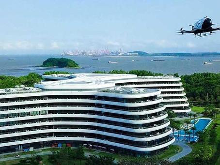 CHINA VAI ESTREAR O  PRIMEIRO HOTEL DE DRONES TÁXI DO MUNDO