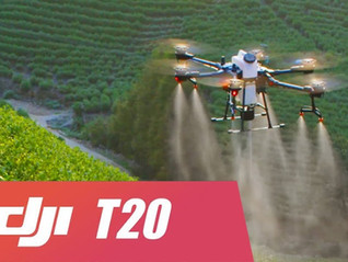 DJI ANUNCIA NOVO DRONE AGRAS T20 PARA PULVERIZAÇAO