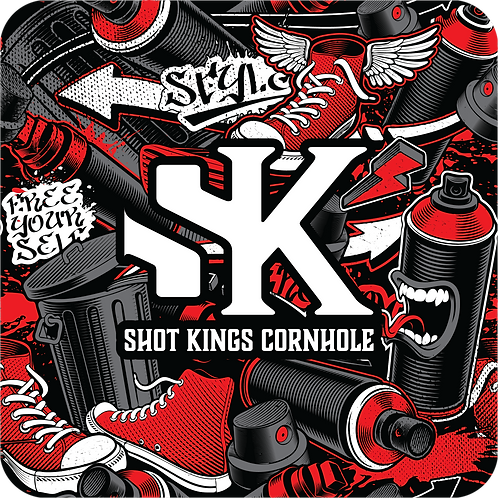 Shot King  Graffiti Revolution Red-  Pro-X
