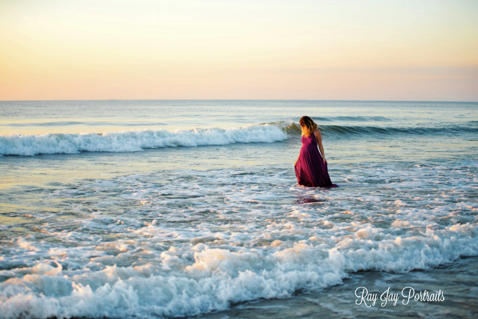 maternity sunrise beach photo