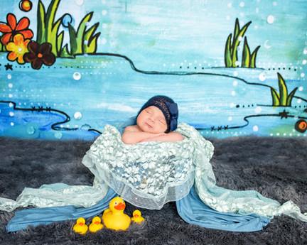 April showers newborn photo