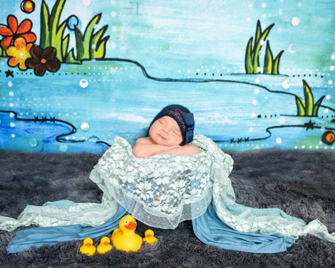 April showers newborn photo