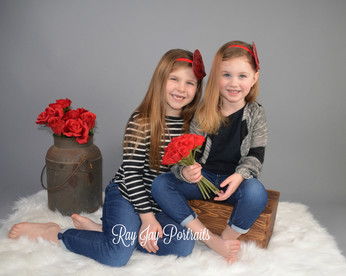 studio portrait siblings