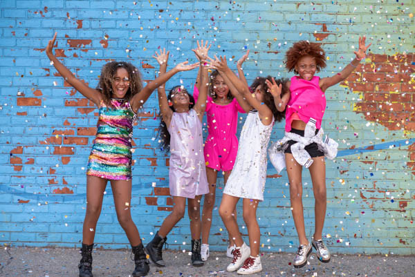 The colors and sparkle between 5 amazing city girls!