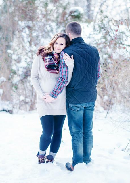 winter maternity session NJ