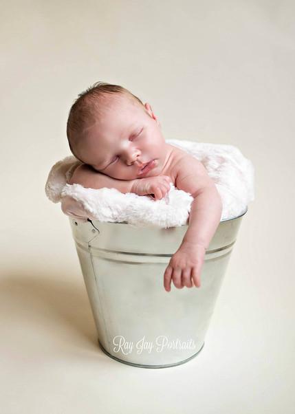 simple newborn photo