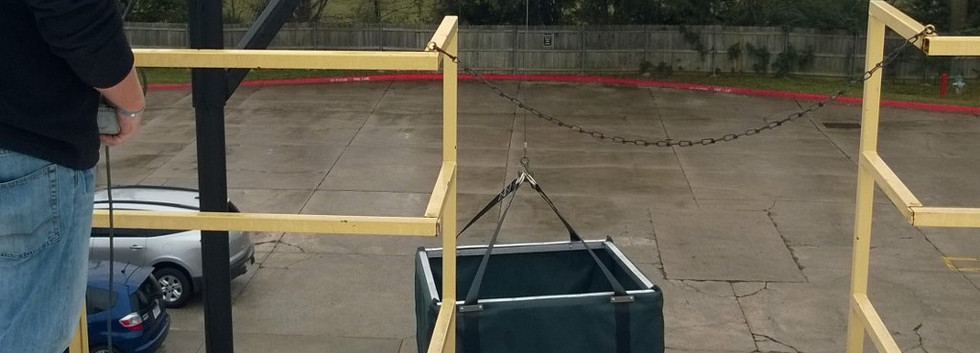 Hoist tools and parts to elevated work areas