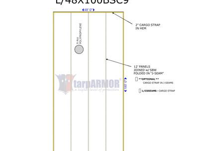 48' x 100' 9.4oz Basic ADC