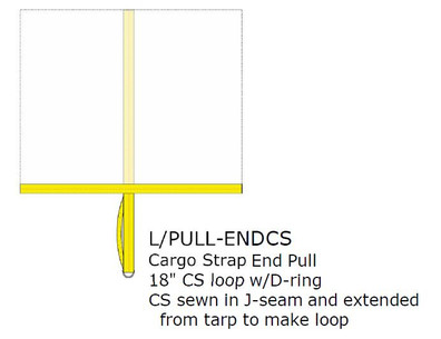 Option:  END PULL IN SEAM, CARGO, EACH