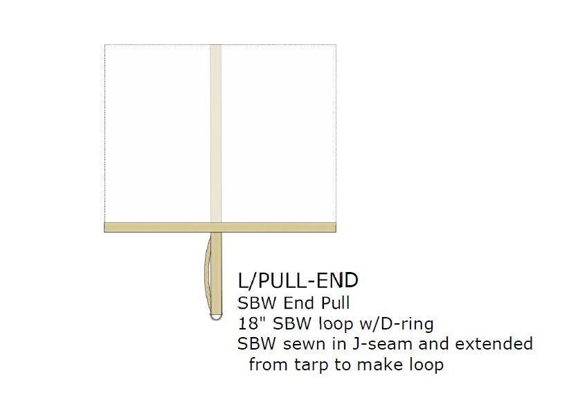 Option:  END PULL IN SEAM, SBW, EACH