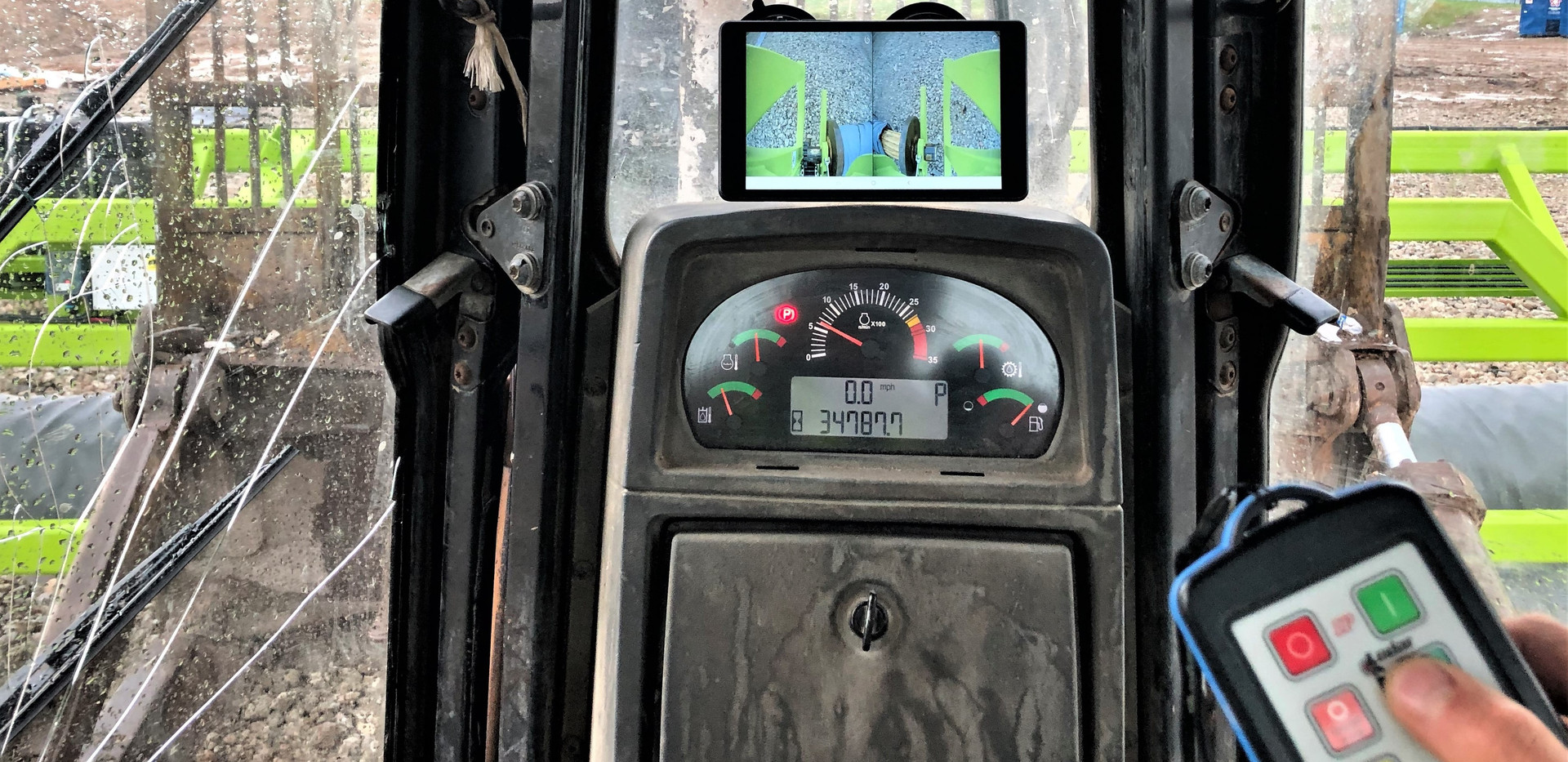 One operator does it all from the safety and comfort of the cab