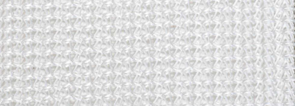 White Knit Mesh Fabric
