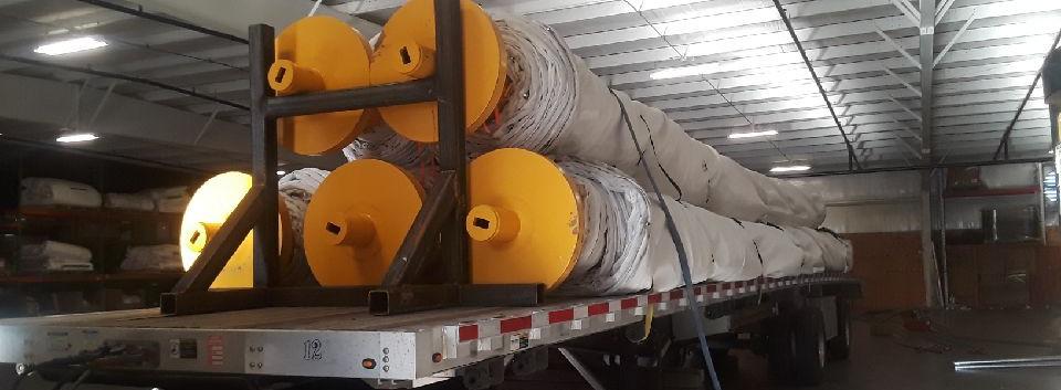 Stack multiple spools per truckload