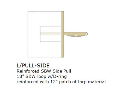 Option:  REINFORCED SIDE PULL, SBW, EACH