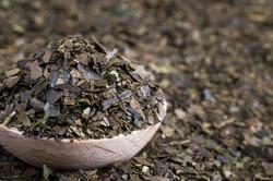 Guayusa dry tea leaves