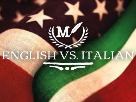 English vs. Italian