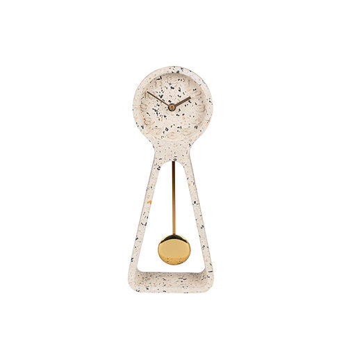Pendulum Time Terrazzo Clock