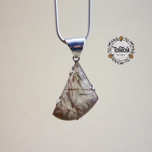 Pendentif en argent 925 quartz