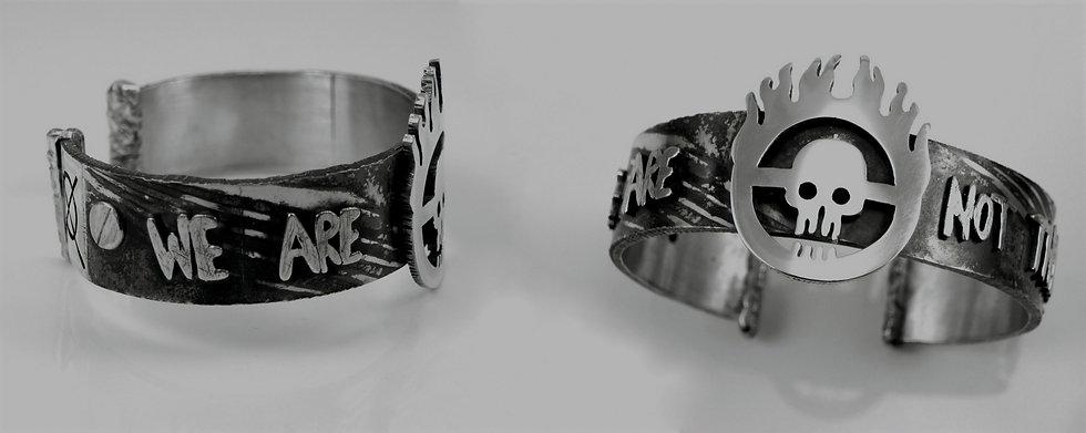 bracelet mokume cuivre argent - argent - mad max - tchatcha bijoux