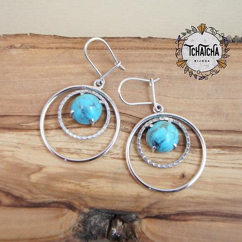 Boucles d'oreille Turquoises