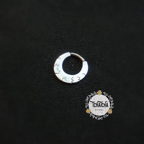 Clicker en argent 925 / Niobium