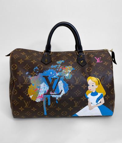 Vintage Louis Vuitton Alice in Wonderland Hand Painted Speedy 35