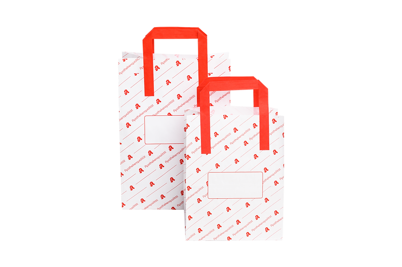 AKTIONSPREIS: Papiertragetaschen Apothekenqualität (klein)
