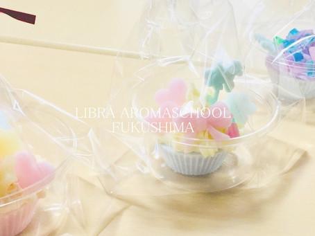 ハッピー感高いアロマカップケーキ石鹸作りレッスンご参加ありがとうございました。