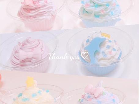 親子でカップケーキ石けんづくり。素敵な作品ご紹介です。