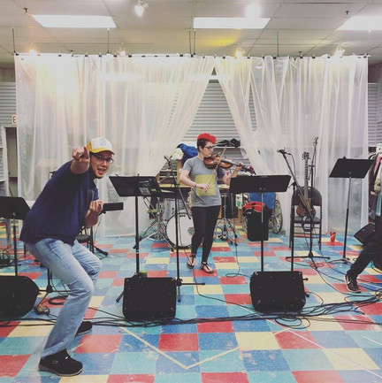 Danny and Emma during rehearsals in Saskatchewan