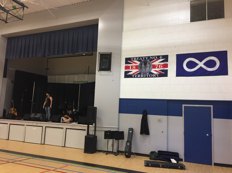 Getting ready at the  Confederation Park School, Saskatoon