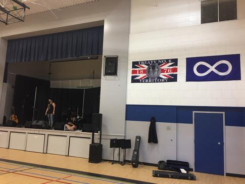Getting ready at the  Confederation Park School, Saskatoon