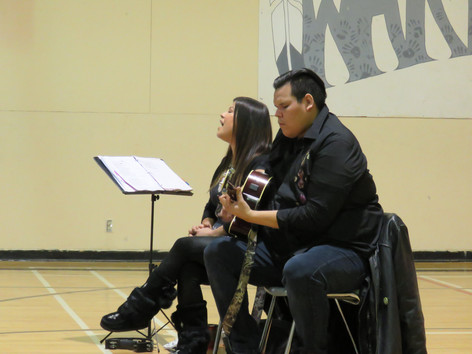 Performance at the Francine J. Wesley Secondary School in Kashechewan