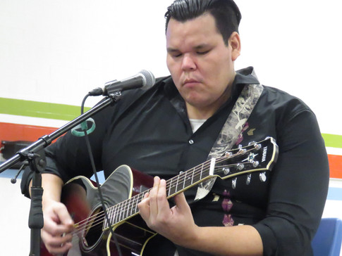 Lance at the Great Moon Gathering in Timmins, Ontario