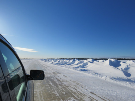 Driving the Wetum Road to Moose Factory