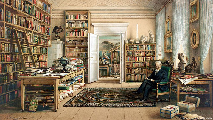 Humboldt in his library.jpg