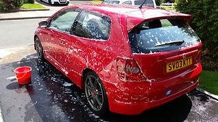 honda civic type r car care detailingworld mobile valeting adrian bogle birmingham valeting autoglym polishing wheel cleaning mint condition valeting