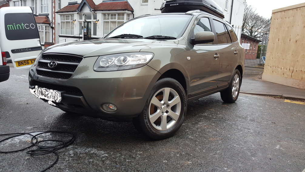 Hyundai Santa Fe, car valeting