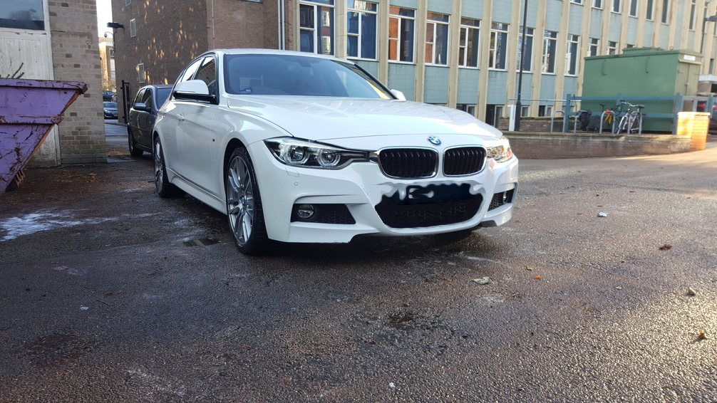 BMW 3 series, mint condition car valeting, Birmingham car valeting