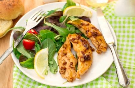 Aigullettes de poulet au Safran