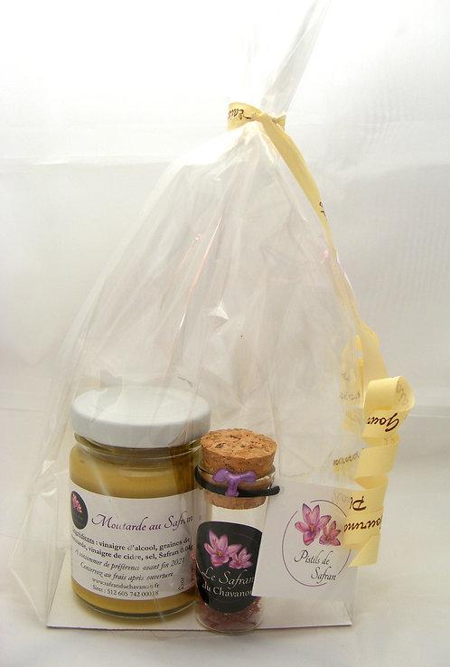 Composition gourmande moutarde au Safran et pistils de Safran