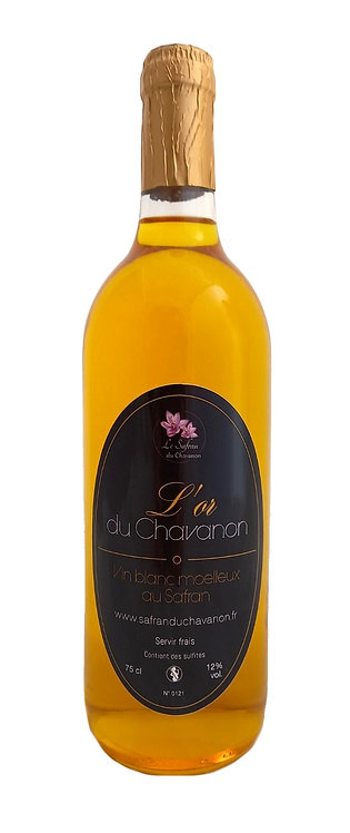 Vin blanc moelleux au Safran