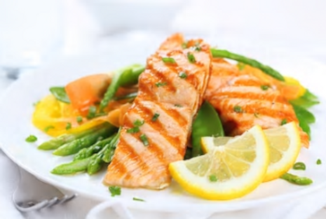 Pavé de saumon au Safran