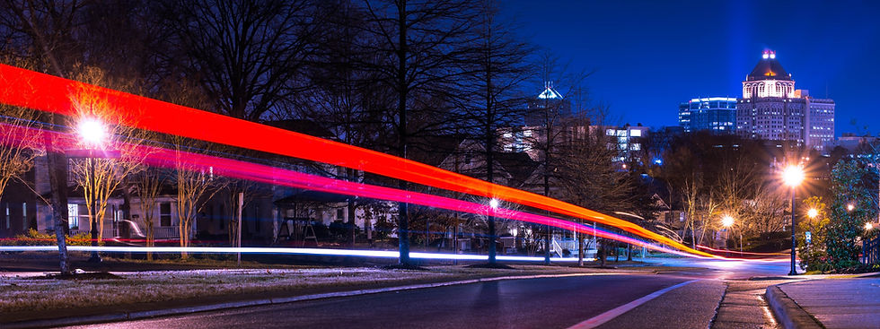 Greensboro Skyline Night
