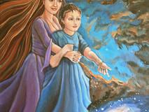 """Acrylic on Canvas 24""""H x 18""""W x 1.5""""D  NFS"""