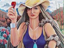 SNAKE WOMAN or GODDESS OF THE DESERT
