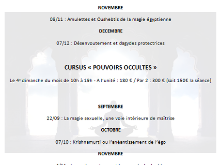 2 nouveaux Cursus de Septembre à Décembre