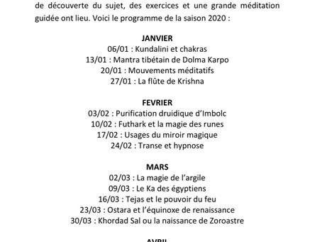 Les ateliers méditations